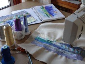 Carol Naylor, close up of textile